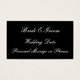 招待状または好意のための結婚式のメモの挿入物 名刺