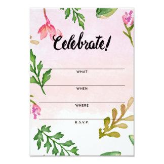 招待状カード-ピンクのグラデーションな群葉--を記入して下さい カード