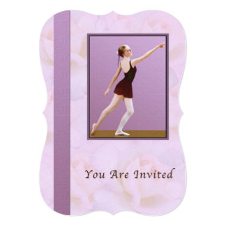 招待状、ダンスの演奏会、バレエ カード