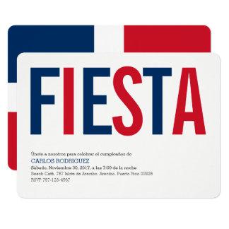 招待状: ドミニコ共和国人Repubublic: ドミニコ共和国の旗 カード
