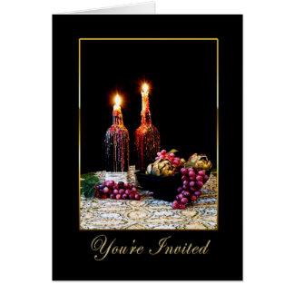 招待状-多目的-イタリアンなテーブルの設定 グリーティングカード