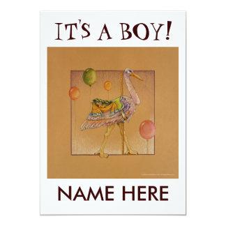 招待状-発表カード-回転木馬のこうのとり カード
