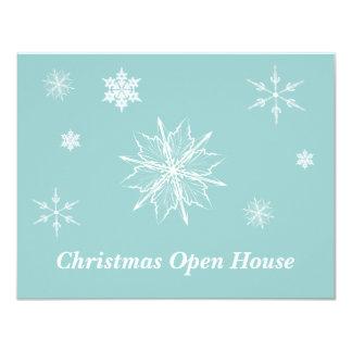 招待状--雪片のオープンハウス カード