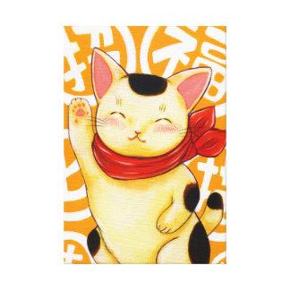 招福猫 キャンバスプリント