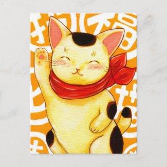 招福猫 postcard