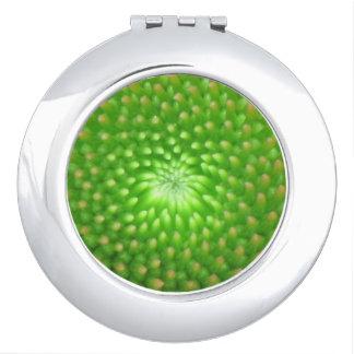 拡大された円錐形の花のコンパクトの鏡
