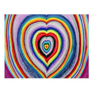 拡大する愛ハート ポストカード