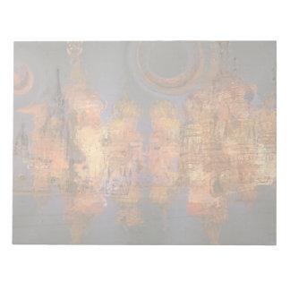 拡張-夢の金揺らめく都市 ノートパッド