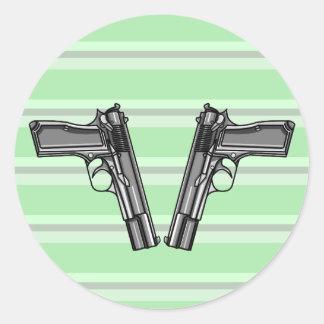 拳銃、ピストル、火器 ラウンドシール
