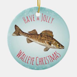 """""""持って下さいすてきなWalleyeのクリスマス""""を セラミックオーナメント"""