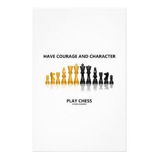 持って下さい勇気およびキャラクターの演劇のチェス(チェスのこまセット)を 便箋