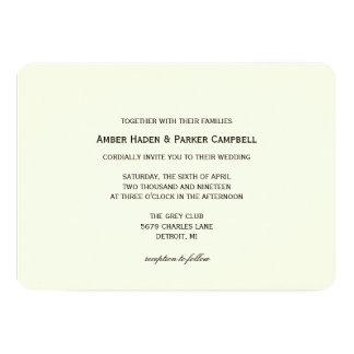 持つ及び握る結婚式招待状| カード