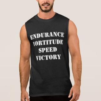 持久力、剛毅、速度、勝利筋肉ワイシャツ 袖なしシャツ