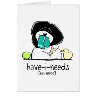 持私必要性のHavaneseの以外鎖Art™ カード