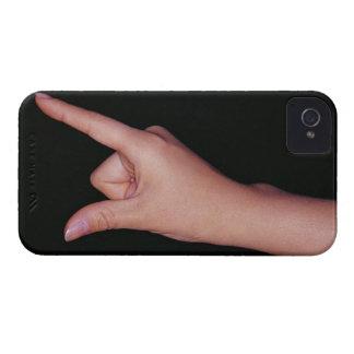 指および親指を搭載する手のクローズアップ Case-Mate iPhone 4 ケース