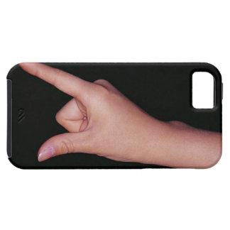 指および親指を搭載する手のクローズアップ iPhone SE/5/5s ケース