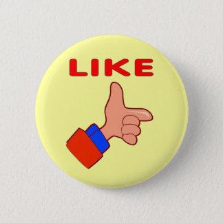 指のように、ボタン 5.7CM 丸型バッジ