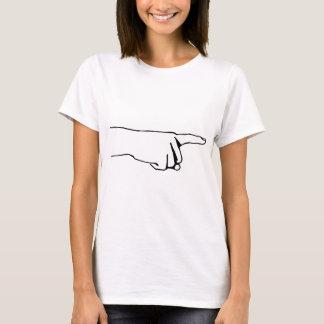 指を指して、手向こうに見て下さい Tシャツ