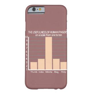 指カスタムな色のMotorolaの場合の実用性 Barely There iPhone 6 ケース