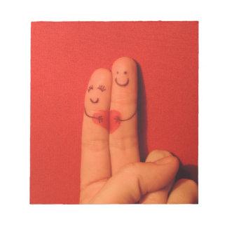 指愛ロマンスの芸術的な絵 ノートパッド