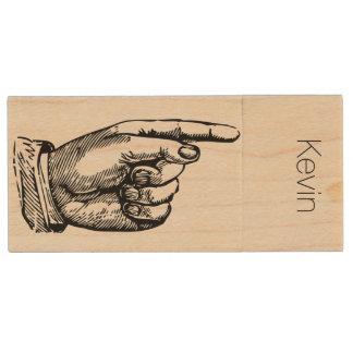 指木USBドライブを指すこと 木製 USB メモリ