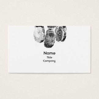 指紋が付いているユニークな名刺 名刺