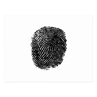 指紋 ポストカード