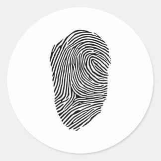 指紋 ラウンドシール