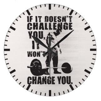 挑戦しなければ、変えません ラージ壁時計