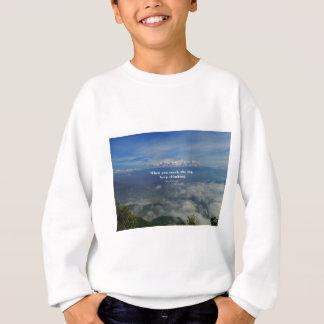 挑戦についてのやる気を起こさせるな禅の諺 スウェットシャツ