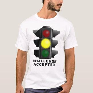 挑戦によって受け入れられる信号のおもしろいなワイシャツ Tシャツ