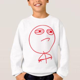 挑戦によって受け入れられる赤及び白 スウェットシャツ