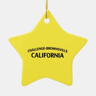 挑戦ブラウンズヴィルカリフォルニア セラミックオーナメント