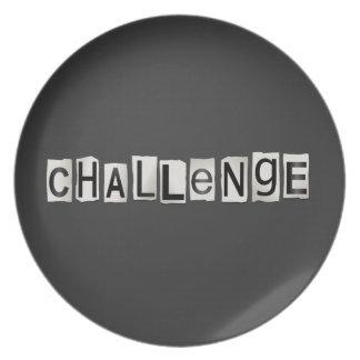 挑戦単語の概念 プレート
