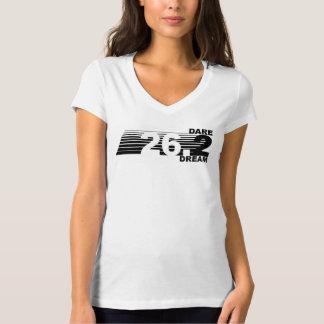 挑戦2の夢- 26.2人のマラソンの女性のTシャツ Tシャツ