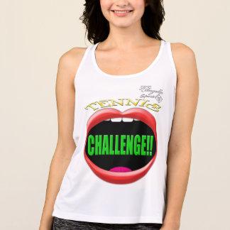 挑戦! テニスの性能のタンクトップ タンクトップ