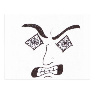 挑発の顔 ポストカード