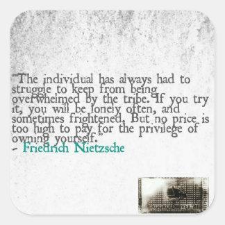 挑発Nietzsche スクエアシール