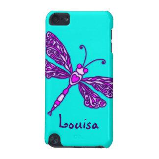 挙げられたトンボの水iPodの紫色の箱 iPod Touch 5G ケース
