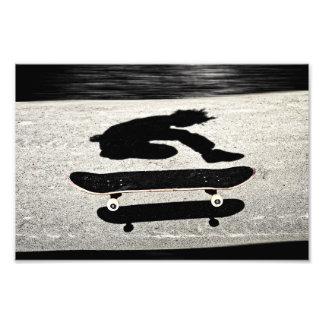 挟まれたスケートボード フォトプリント