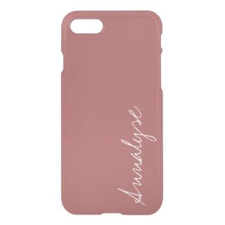 挨りだらけのヒマラヤスギの暖かいローズピンクの無地のカスタム iPhone 8/7 ケース