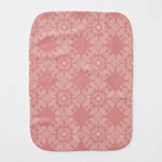 挨りだらけのピンクの花パターン バープクロス