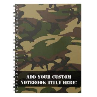 挨りだらけの緑の迷彩柄 ノートブック