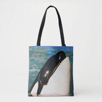 挨拶しているクジラ トートバッグ