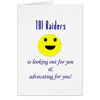 挨拶しているTBIの侵入者 グリーティングカード