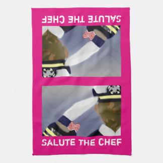 """挨拶して下さいシェフのピンクの台所タオル16""""にx 24"""" キッチンタオル"""