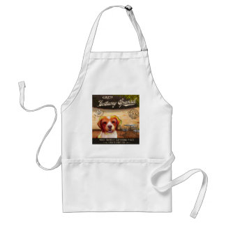 挨拶するブリッタニースパニエル犬犬の芸術ポスター私操業 スタンダードエプロン