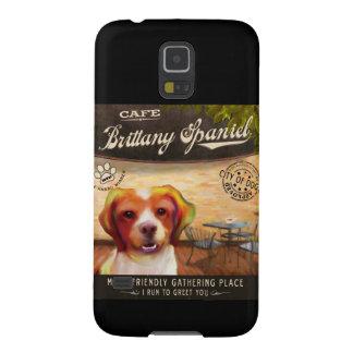 挨拶するブリッタニースパニエル犬犬の芸術ポスター私操業 GALAXY S5 ケース
