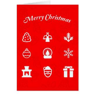 挨拶のカード休日の芸術クリスマス117 ノートカード