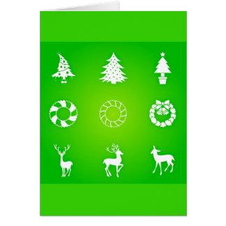 挨拶のカード休日の芸術クリスマス118 ノートカード